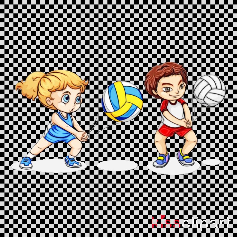 cartoon playing sports gesture