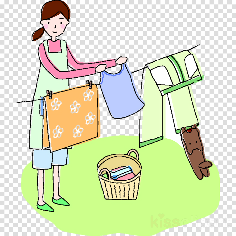 mother cleaning washing cloth