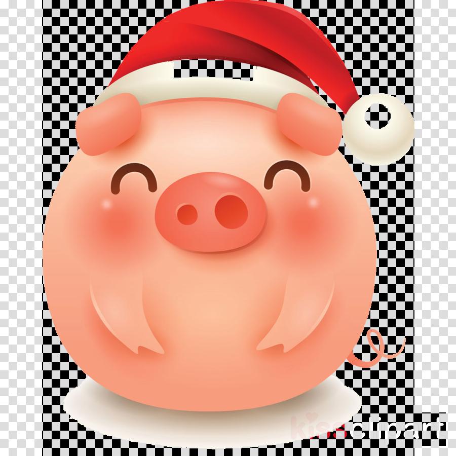 merry christmas pig cute pig