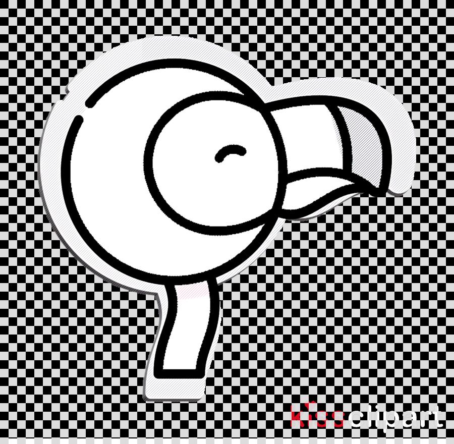 Tropical icon Flamingo icon