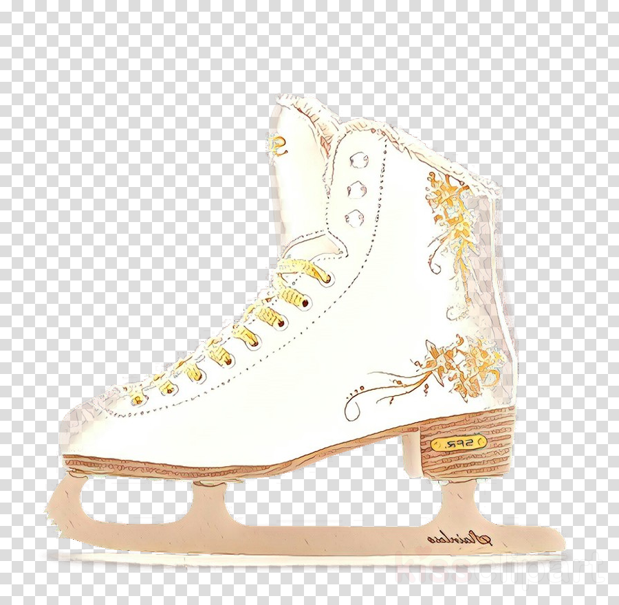 figure skate footwear ice hockey equipment ice skate white