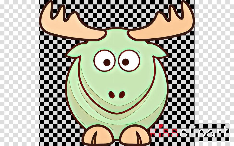 green white cartoon head smile