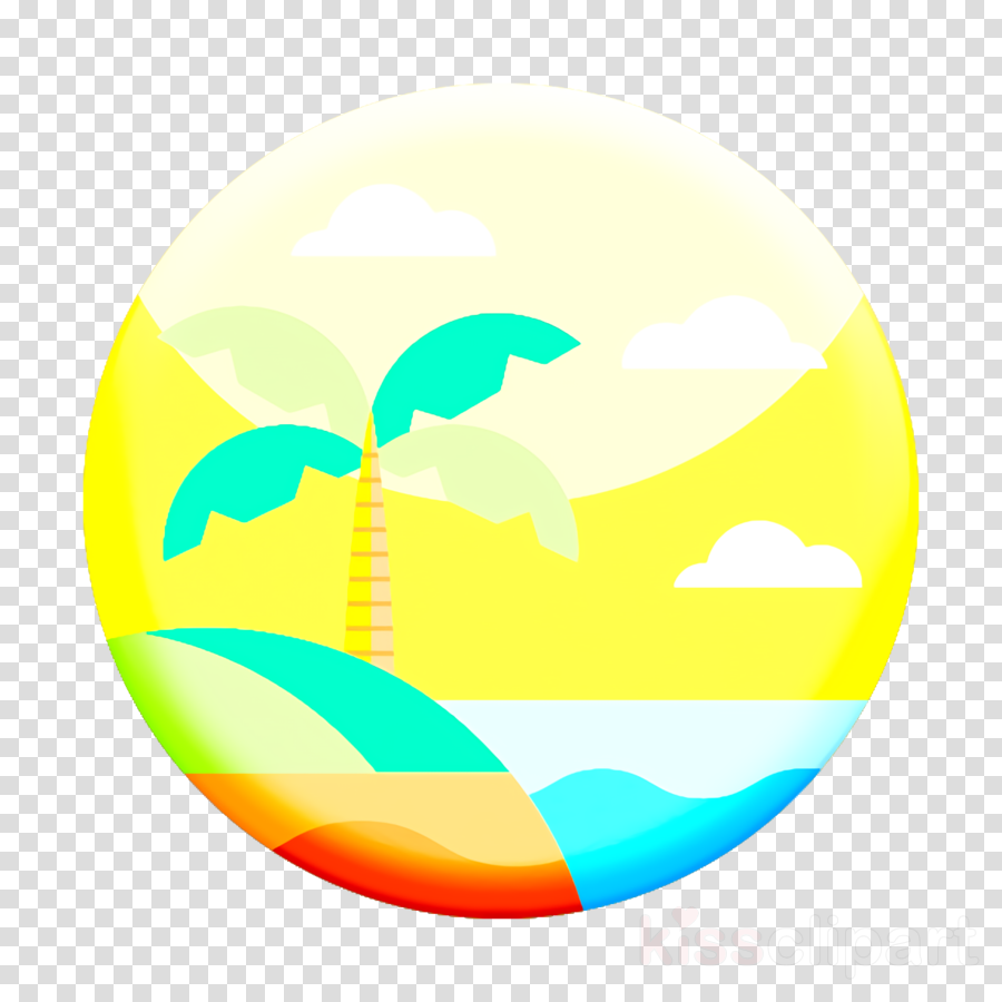 beach icon summer icon clipart yellow circle earth transparent clip art beach icon summer icon clipart yellow