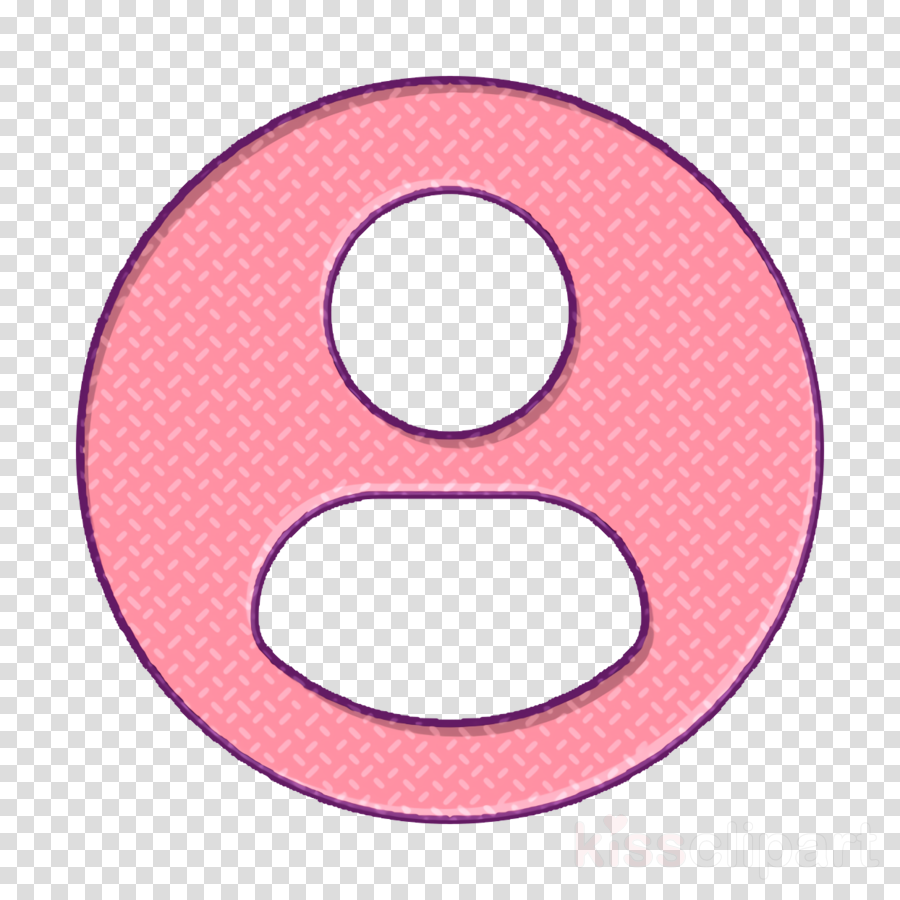 Interface Icon User Icon Profile User Icon Clipart Pink Circle Symbol Transparent Clip Art