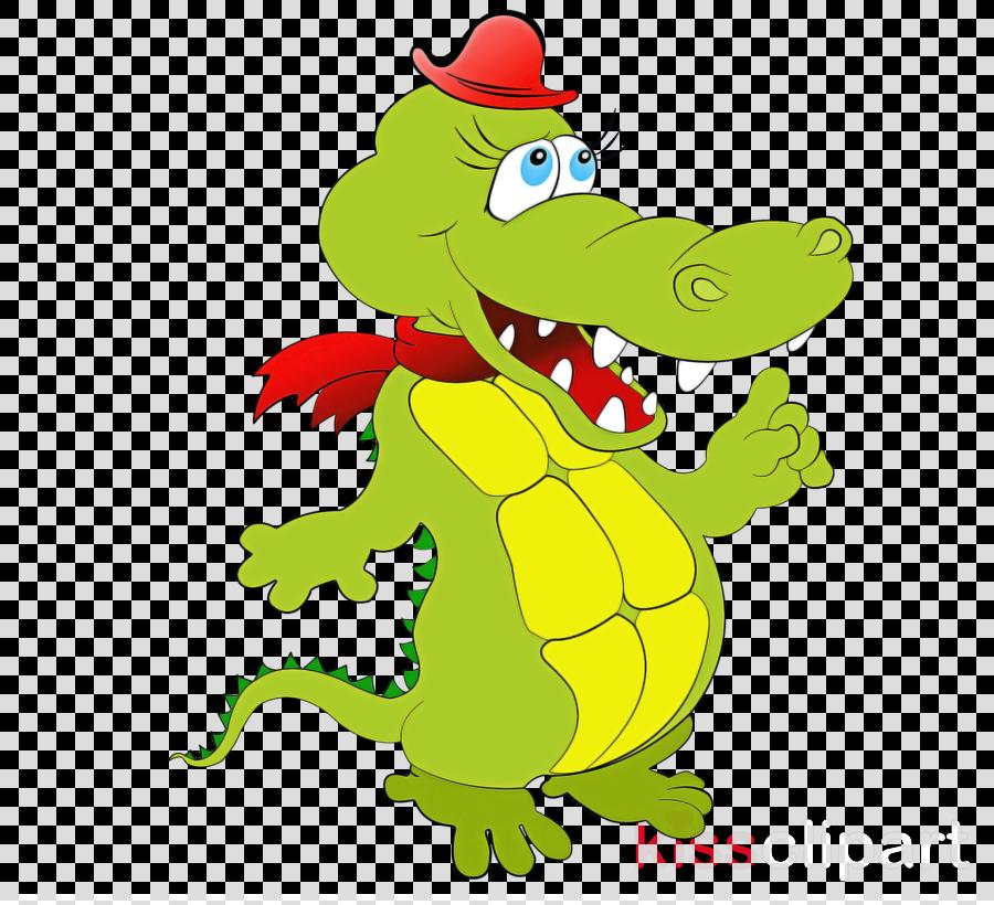 crocodile crocodilia cartoon alligator green