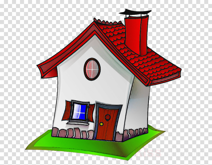 cartoon house home cottage roof