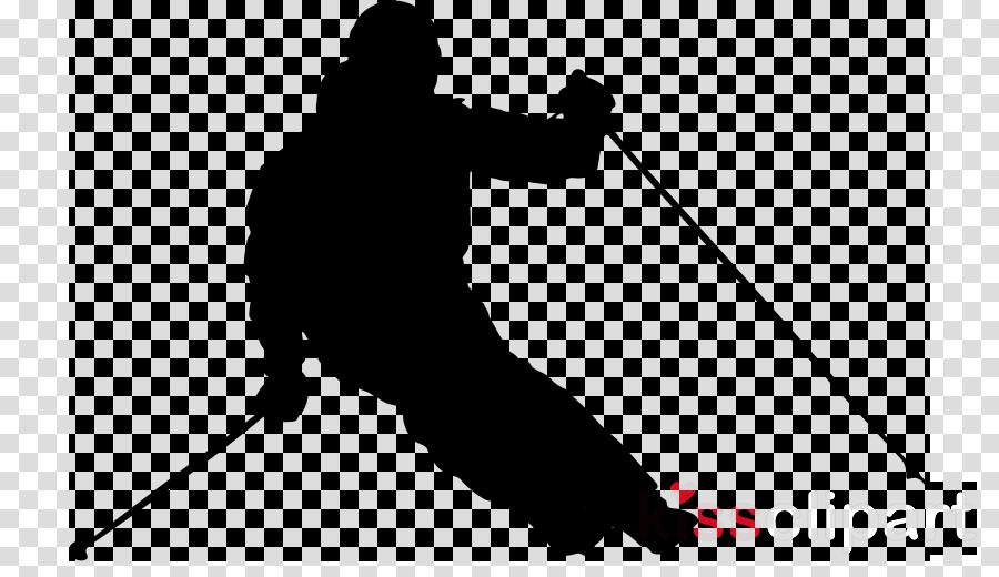 skier silhouette standing line telemark skiing