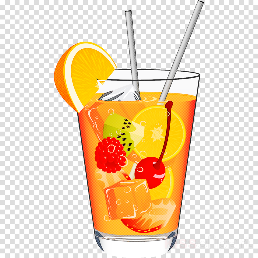 drink orange drink cocktail garnish planter's punch non-alcoholic beverage