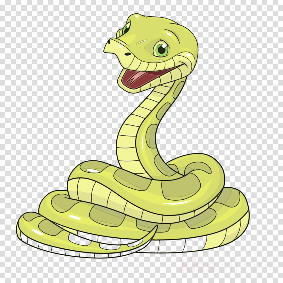 serpent snake cartoon reptile yellow