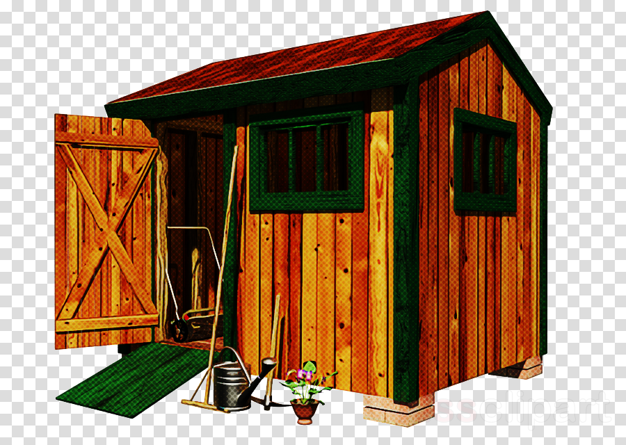 shed log cabin shack outhouse garden buildings