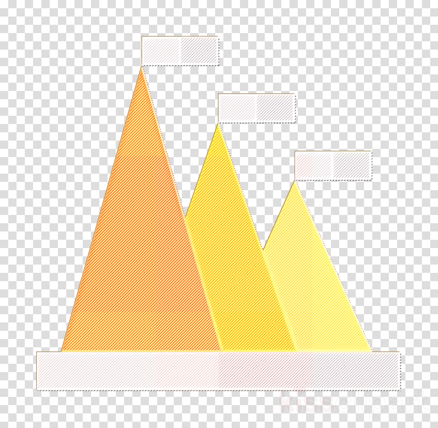 Business and Office icon Graph icon Pyramid chart icon