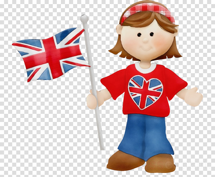 cartoon toy flag majorette (dancer)