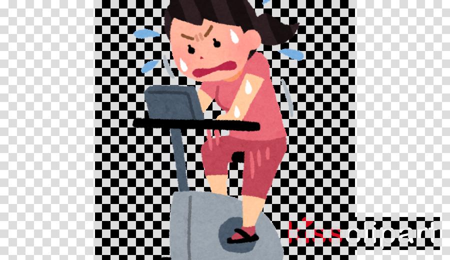 cartoon treadmill exercise equipment exercise machine physical fitness
