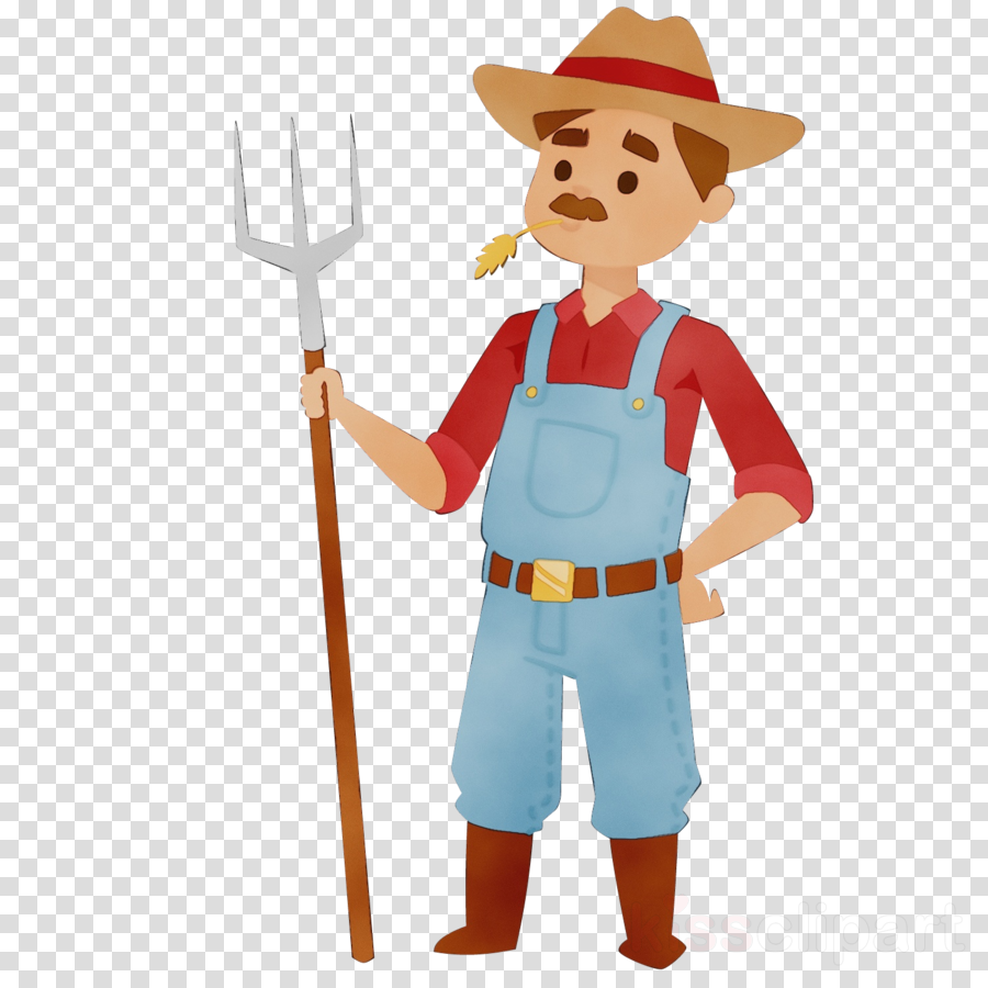 cartoon costume pitchfork shovel
