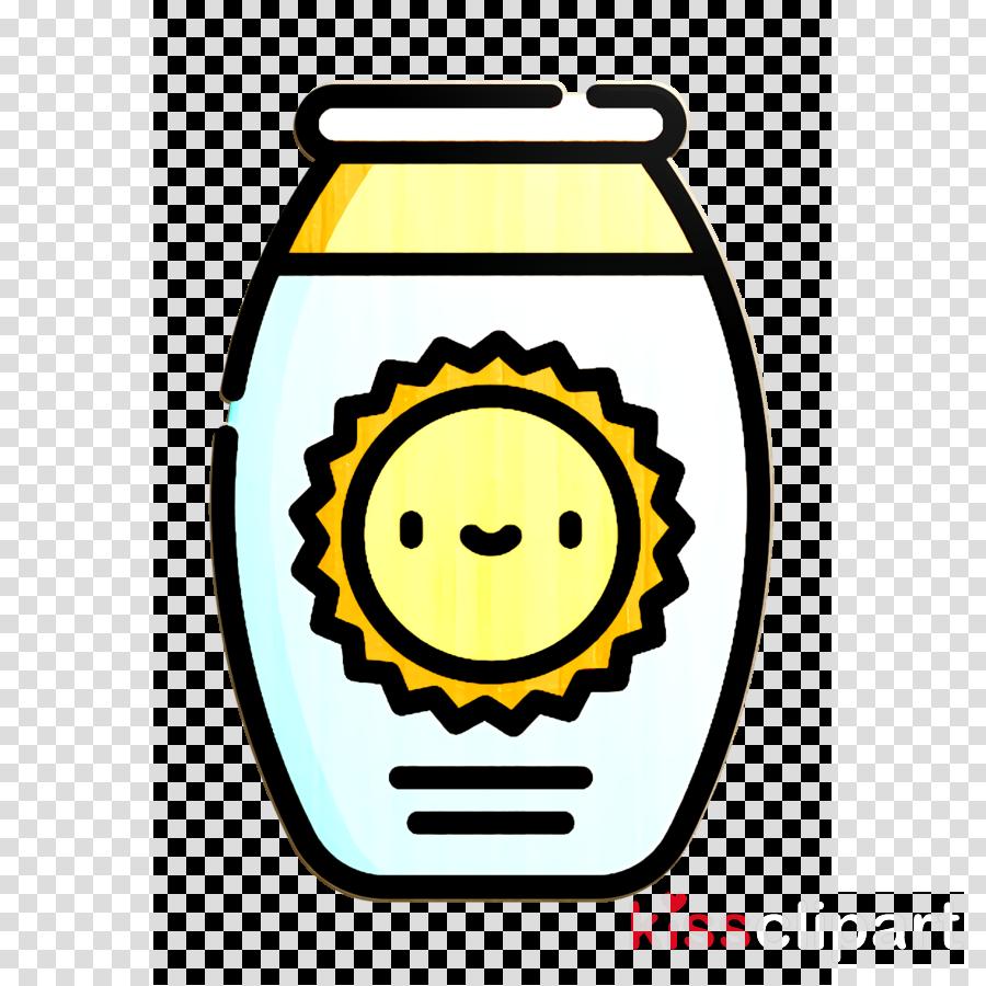Sun cream icon Beach icon Tropical icon