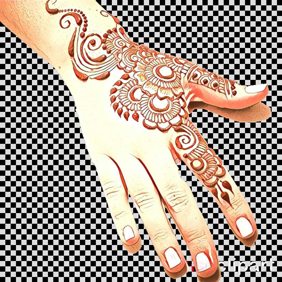 mehndi pattern finger nail henna