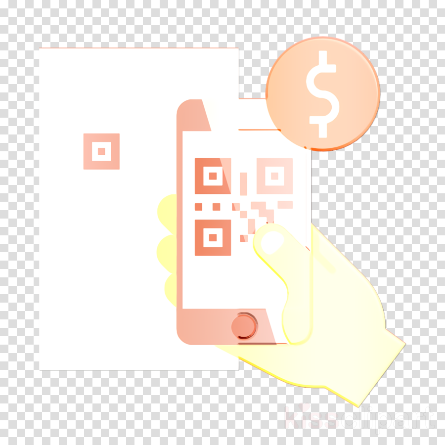 E-commerce and shopping elements icon Qr code icon