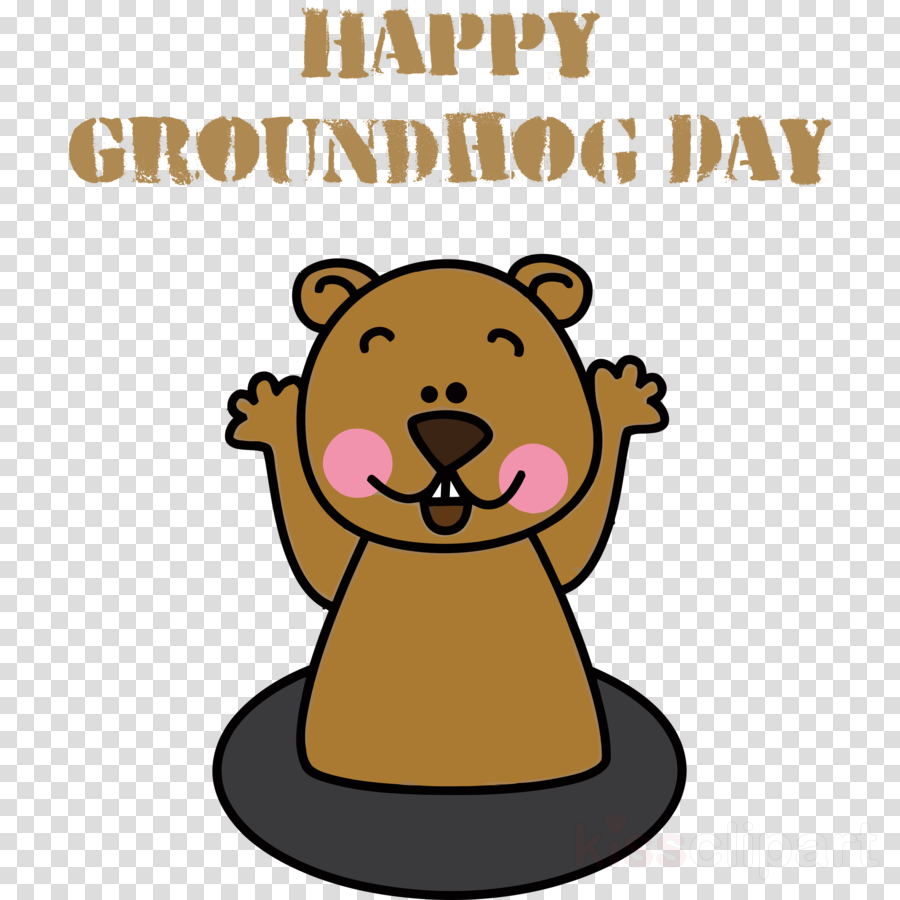 groundhog day happy groundhog day groundhog clipart - Groundhog, Cartoon, Groundhog Day, transparent clip art