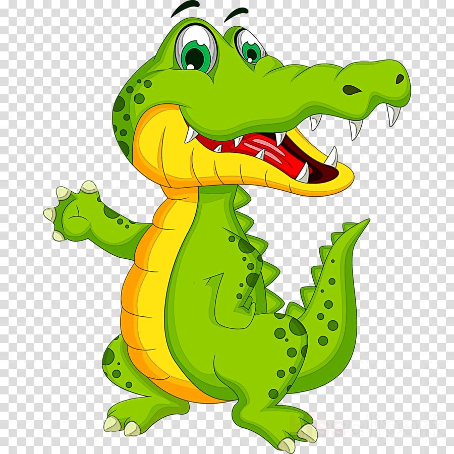 crocodile crocodilia green cartoon alligator