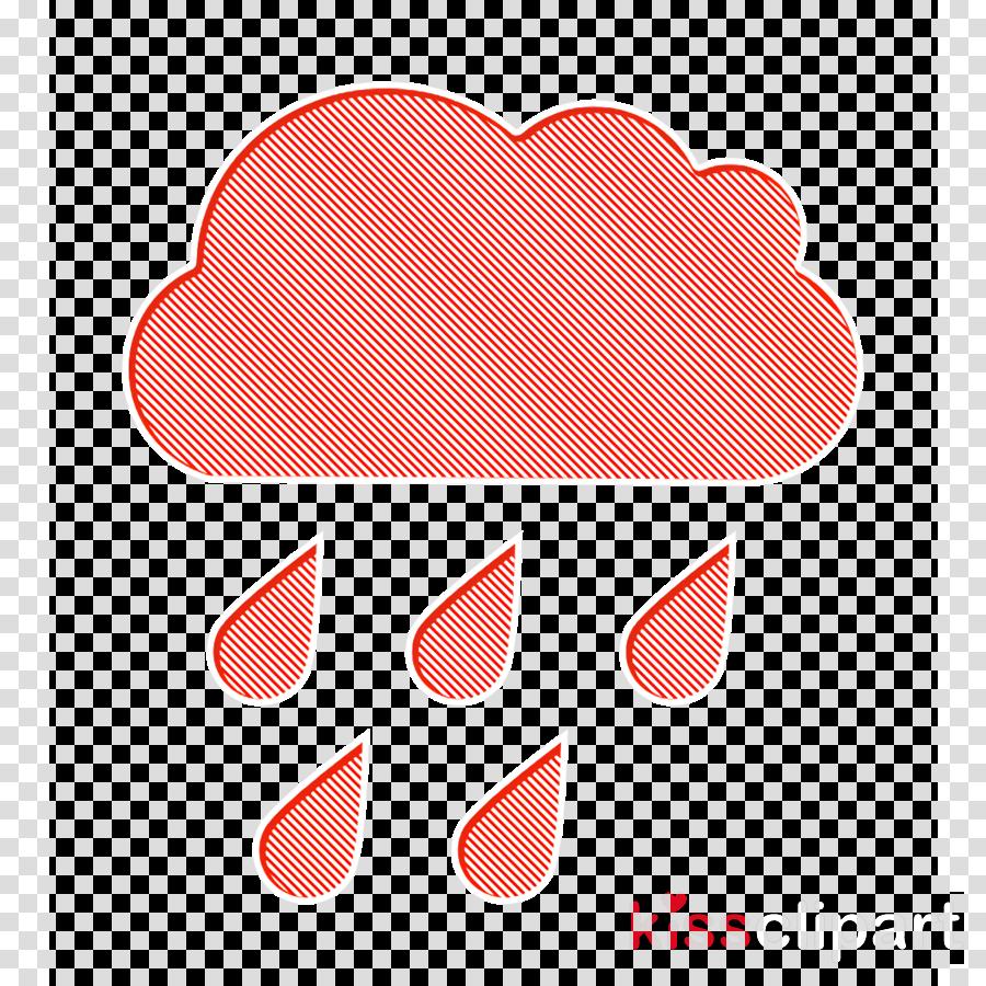 weather icon Rain icon Raindrops falling of a black cloud icon