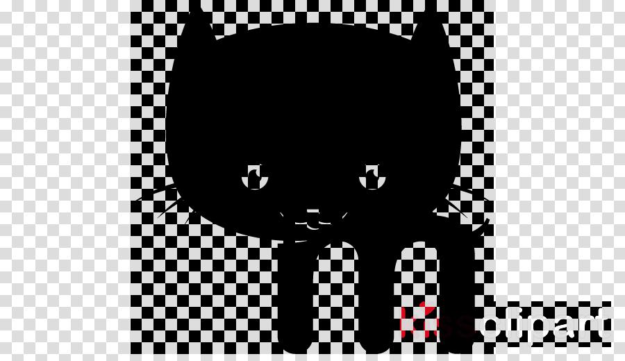cat black cat small to medium-sized cats whiskers cartoon
