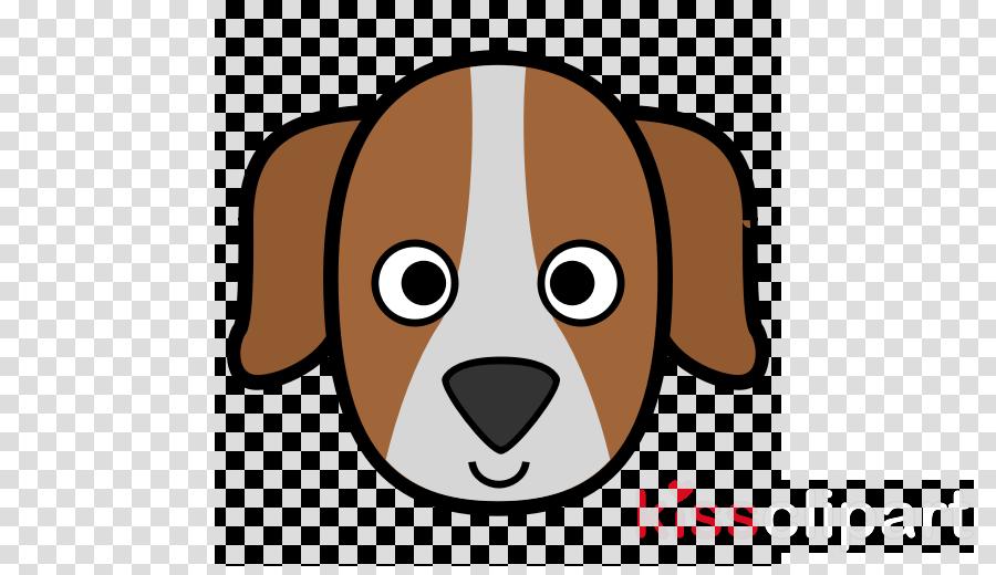 face cartoon dog nose head