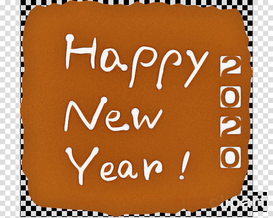 Happy New Year Orange 45