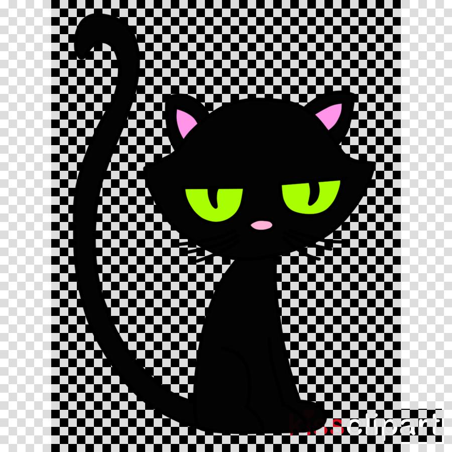 Cat Black Cat Small To Medium Sized Cats Cartoon Head Clipart Cat Black Cat Small To Mediumsized Cats Transparent Clip Art