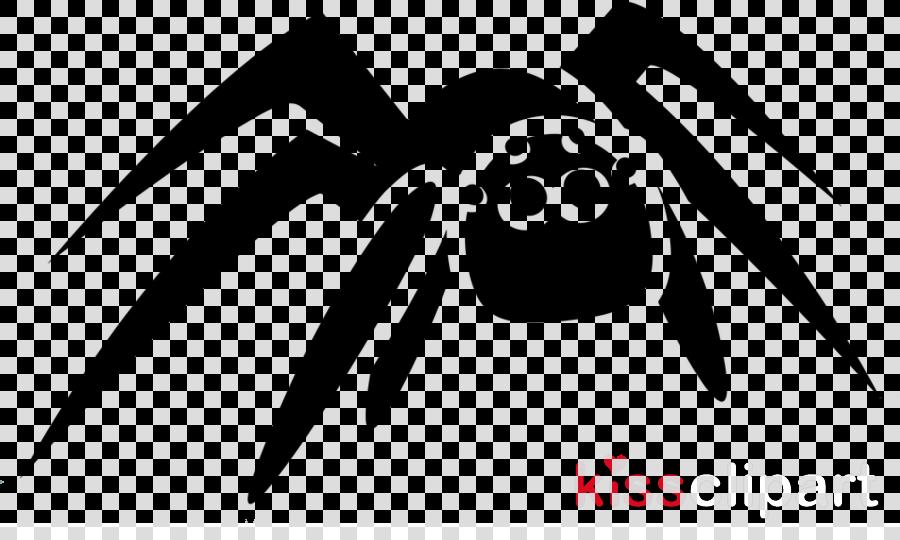 black black-and-white spider tarantula cartoon