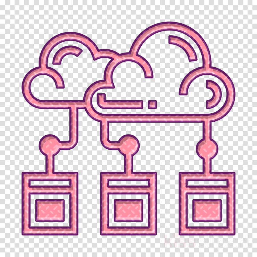 Cloud icon Cloud computing icon Artificial Intelligence icon