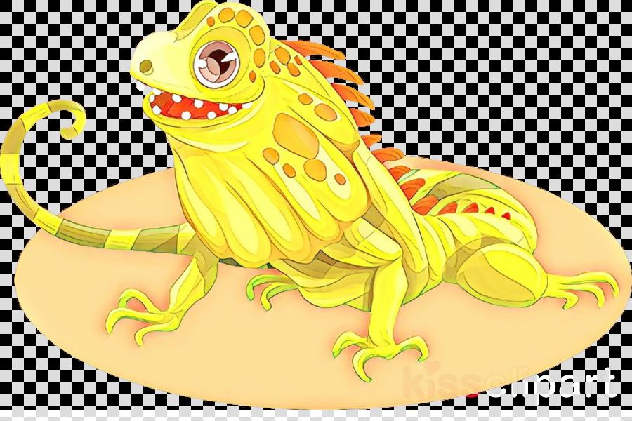 yellow cartoon animal figure lizard reptile