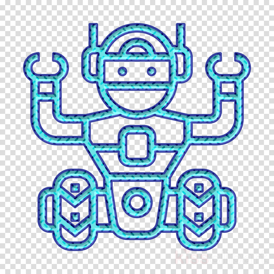 Artificial Intelligence icon Robot icon