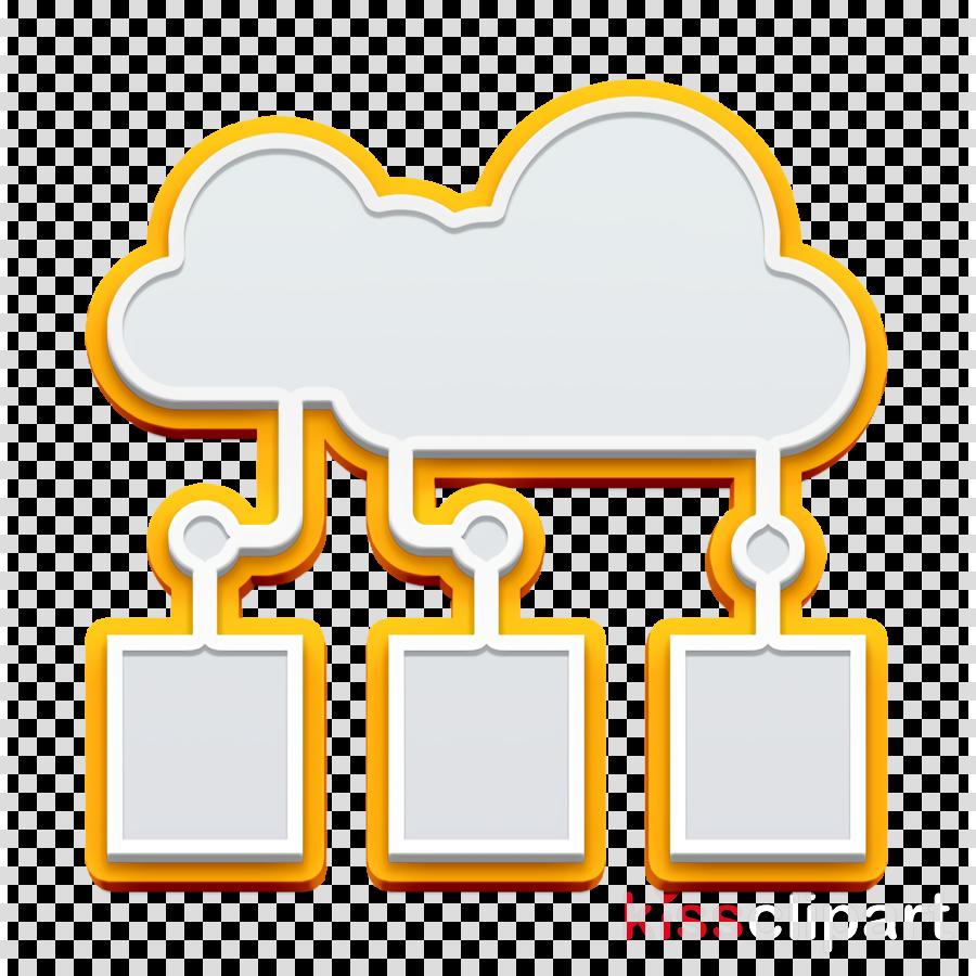 Artificial Intelligence icon Cloud computing icon Data icon