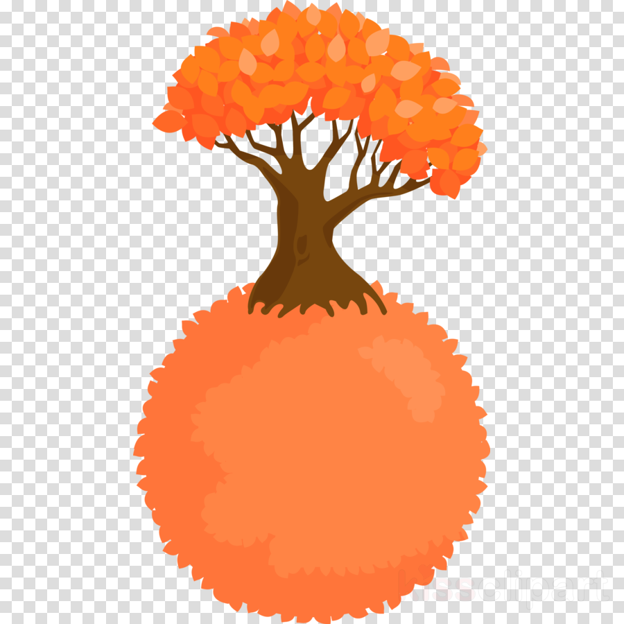 Abstract Tree Clipart Orange Plant Transparent Clip Art