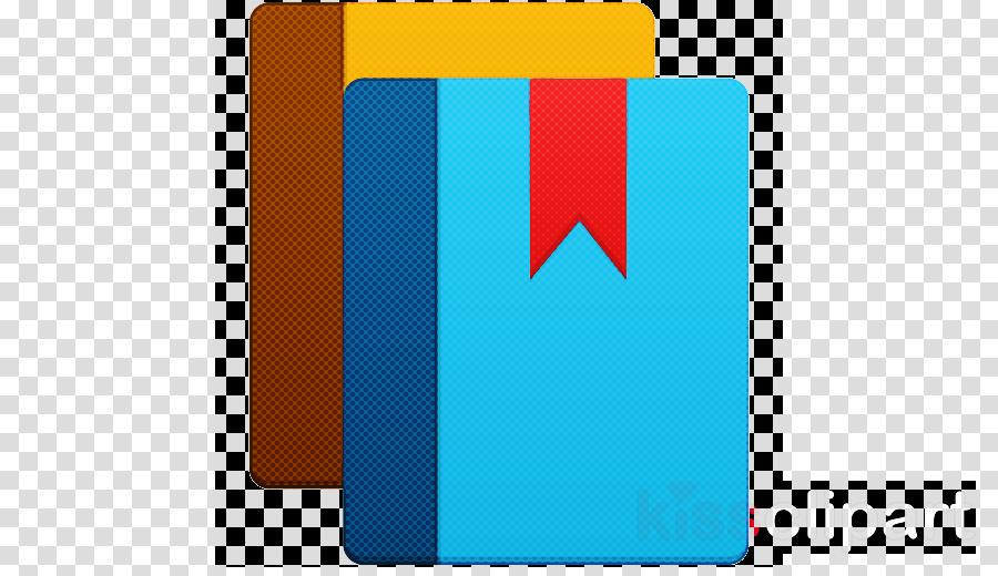 Electric Blue Technology E Book Reader Case Icon Rectangle