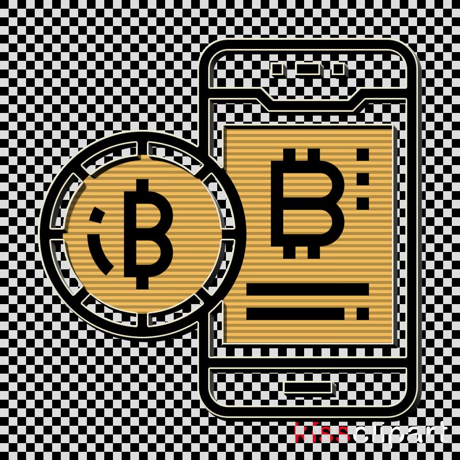 Blockchain icon Smartphone icon Bitcoin icon