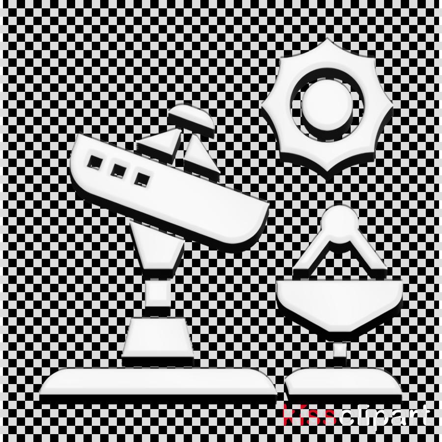 Satellite dish icon Astronautics Technology icon