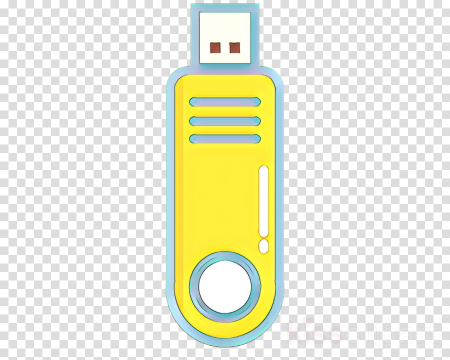 usb flash drive yellow data storage device technology flash memory