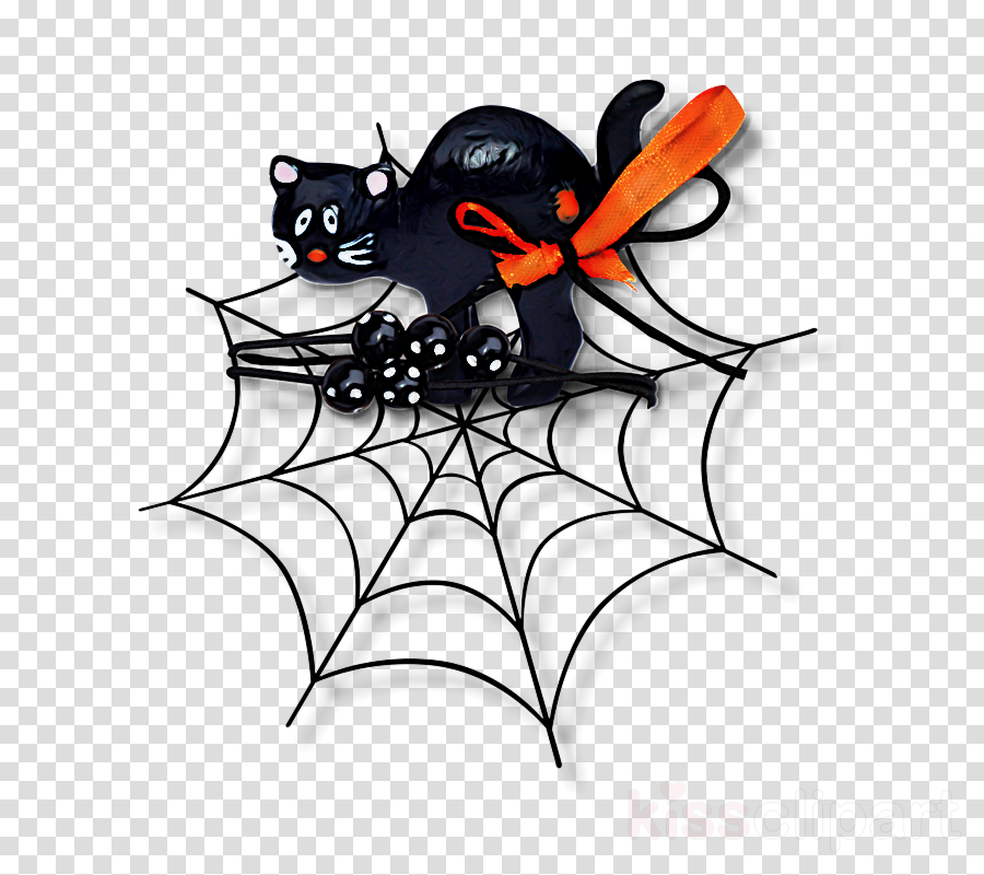 black cat bat plant black-and-white