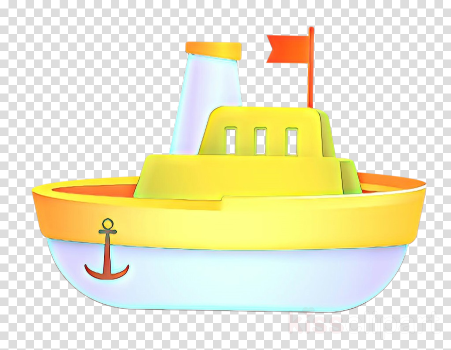 yellow plastic vehicle boat play