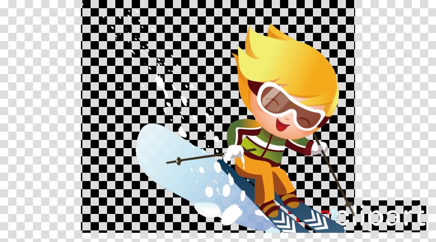 skier cartoon skiing ski alpine skiing