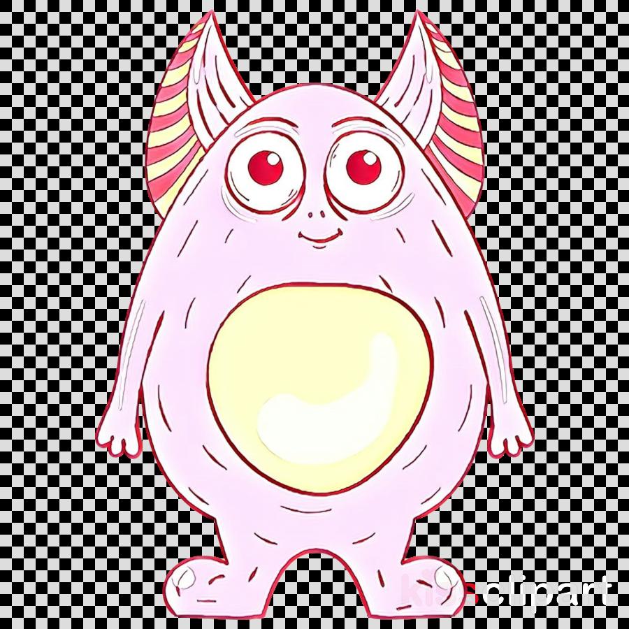 white pink cartoon head snout