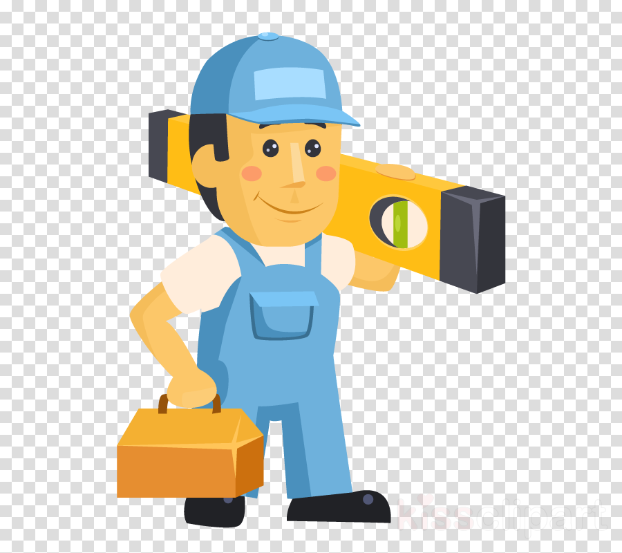 cartoon construction worker package delivery job lego