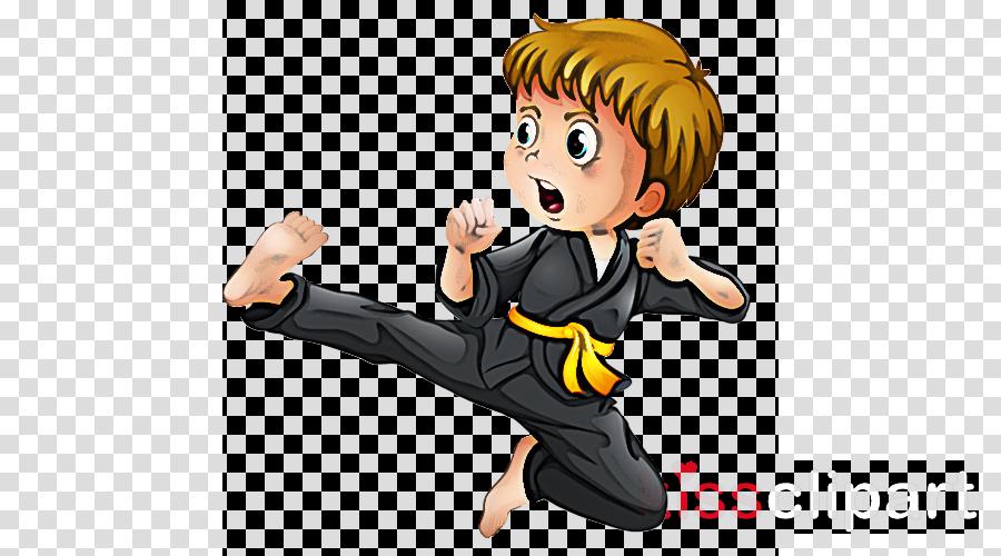 cartoon kung fu kick martial arts karate