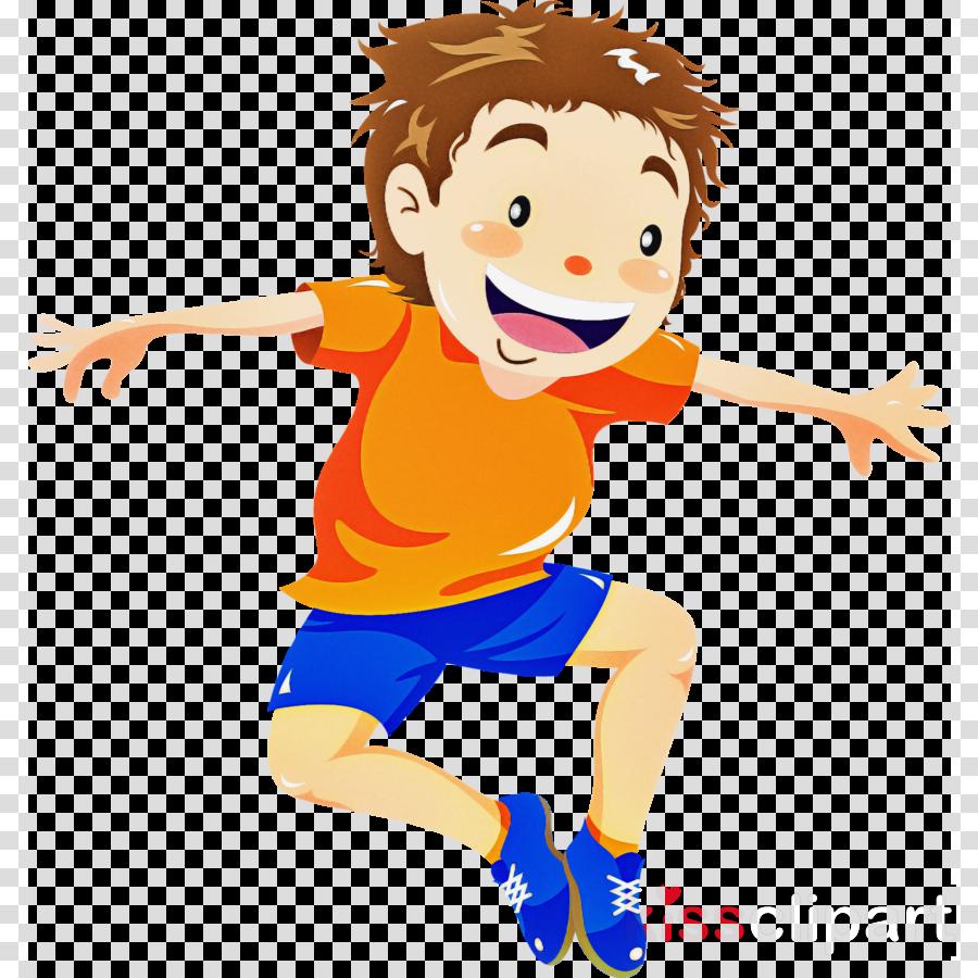 cartoon jumping play child happy