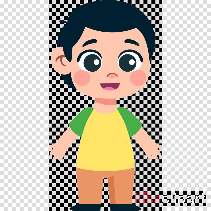 Boy Child Clipart Cartoon Nose Cheek Transparent Clip Art