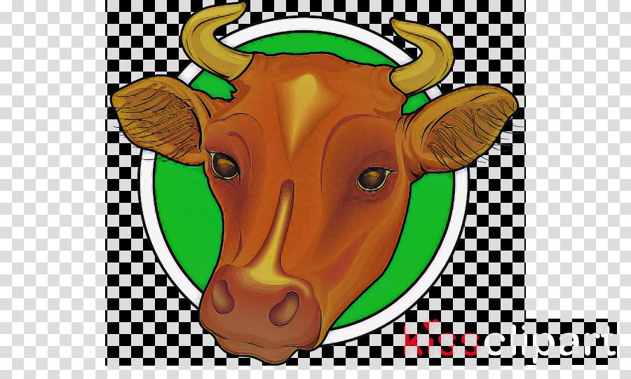 bovine head cartoon nose snout