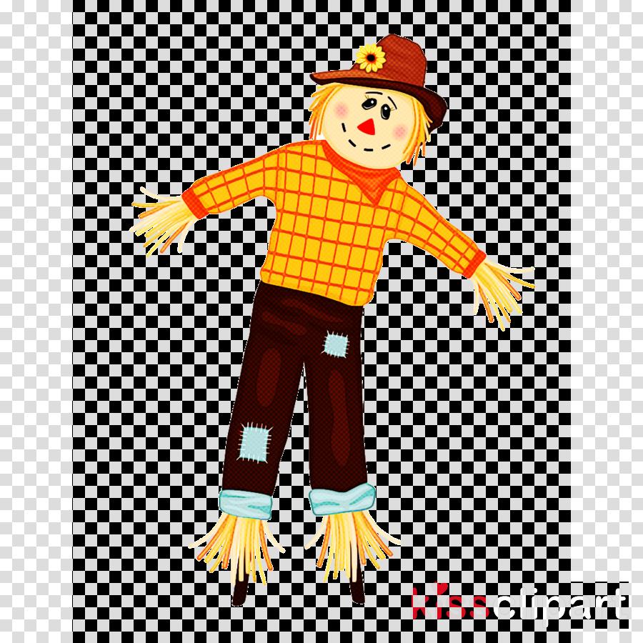 clown costume yellow scarecrow piñata