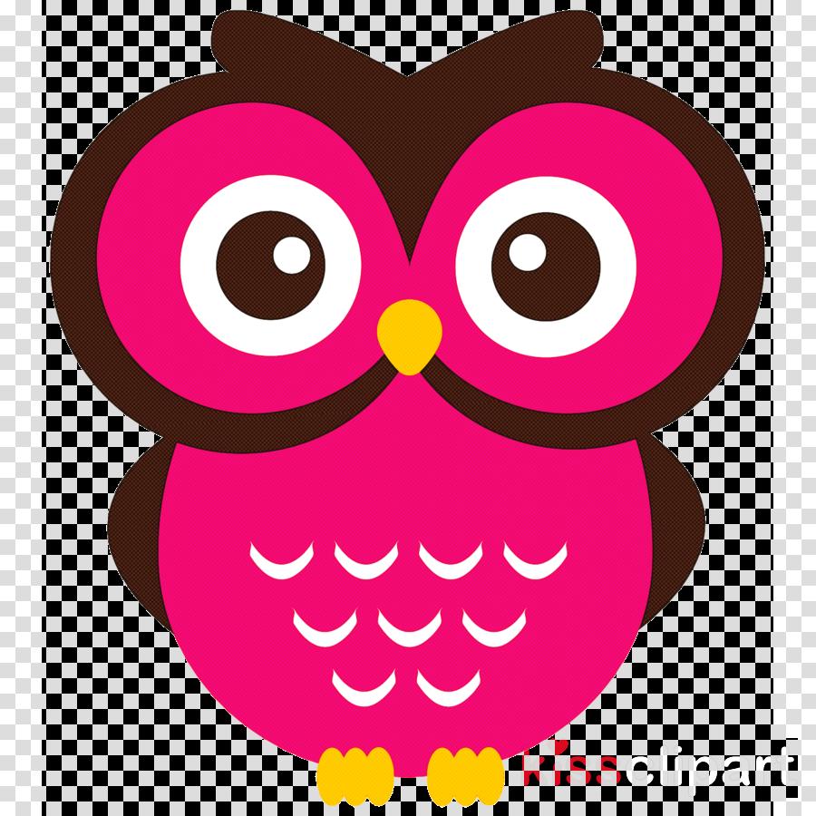 owl pink cartoon red cheek