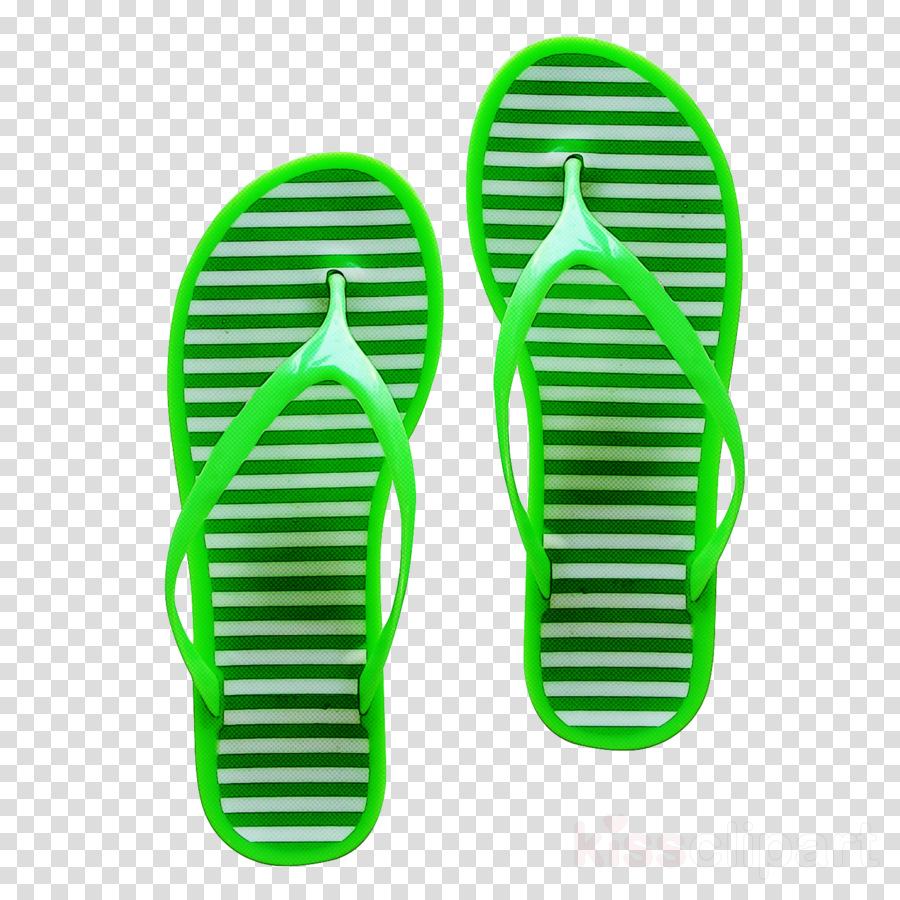 green flip-flops footwear sandal slipper